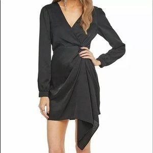 ASTR Womens Dress Faux Wrap Surplice Twist Side XS
